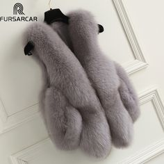 FURSARCAR New 2017 Winter Women Real Real Fur Vest Nataral Genuine Leather Fox Fur Female Coats with Pocket For Women 9212 ** AliExpress Affiliate's buyable pin. Click the image to find out more on www.aliexpress.com #Womensvests