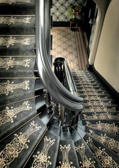 Catherine Martin stair carpet....i would paint this on stairs
