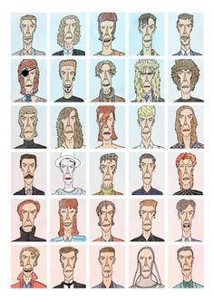 David Bowie - Pop Culture Portraits by Curtis Rosenthal