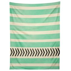 Allyson Johnson Mint Stripes And Arrows Tapestry | DENY Designs Home Accessories