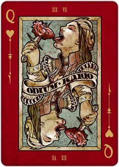 Playing Cards - Queen Of Hearts, REQUIEM Playing Cards Deck by Lorenzo Gaggiotti - playingcards, playingcardsart, playingcardsforsale, playingcardswithfriends, playingcardswiththefamily, playingcardswithfamily, playingcardsgame, playingcardscollection, playingcardstorage, playingcardset, playingcardsfreak, playingcardsproject, cardscollectors, cardscollector, playing_cards, playingcard, design, illustration, cardgame, game, cards, cardist