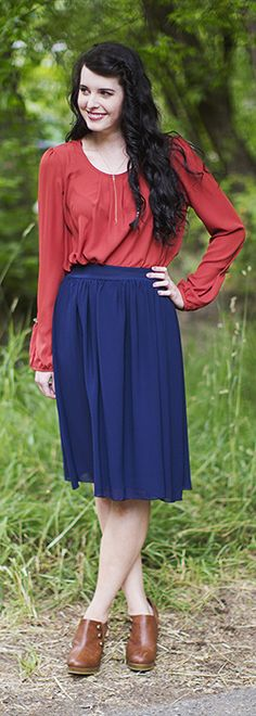 Long Sleeve Front Pleats Top *CLEARANCE* [MW10797] - $9.99 : Mikarose Boutique, Reinventing Modesty