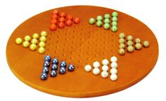 "$24.00, Classic board game for every age! 15"" Jumbo Chinese Checkers Wood Board Set w/Marbles. #chinesecheckersgames"