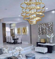 Dinner Room, Sweet Home, Chandelier, Classy, Ceiling Lights, Interior Design, Vegans, Wealth, Furniture