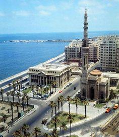 القائد إبراهيم سنة 1966 بالإسكندرية Alexandria, Ibrahim Mosque 1960
