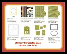 New Weekly Deals from Stampin' Up! www.stampinup.com/ECWeb/ItemList.aspx?categoryid=1634&dbwsdemoid=2012592