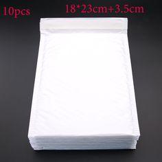 10 stücke (18*23 cm + 3,5 cm) Weiß Umschlag Papier Blase Postsack Blase Porto Verschiffen taschen