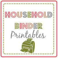 household binder printables