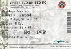 Sheffield United v Liverpool. Liverpool Football Tickets, Sheffield United, Champions League, Premier League, The Unit