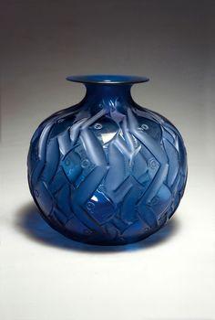 """** René Lalique (1860-1945), """"Penthièvre"""" Glass Vase."""