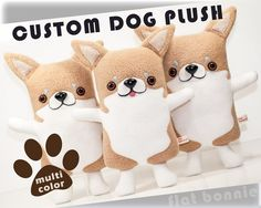 Custom dog stuffed animal Stuffy toy of your puppy Dog