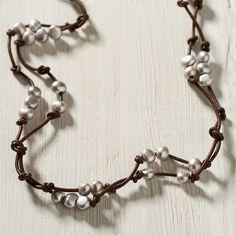 Scattered Pearls Bracelet, Silver
