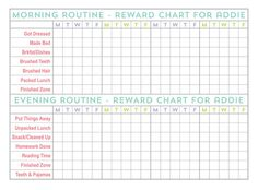stay organized throughout the school year with free printable chore charts and personal checklists at www - Printable Pictures For Kids