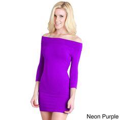 Nikibiki Women's Seamless Off Shoulder Dress