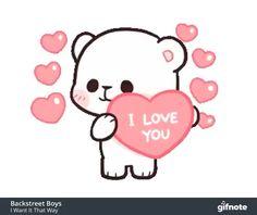 i love you gif Cute Couple Cartoon, Cute Love Cartoons, Cute Cartoon, Cute I Love You, Cute Love Gif, I Love You Video, I Love You Gifs, I Love You Images, Love Heart Gif