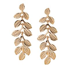 Multi Leaves Drop Post Earrings [EOE8136GD]  Wholesale24x7.com - Fashion Scarves and Accessories Wholesale, One Stop Wholesale Shopping for Scarves, Jewelry and Fashion Accessories!