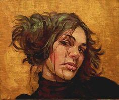 """Saatchi+Online+Artist+Annemarie+Holloway;+Painting,+""""Gold+girl..alla+prima""""+#art"""