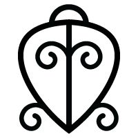 "Adrinka Symbol ODO NNYEW FIE KWAN (Marriage Matters) ""Love never loses its way home"" Symbol of the power of love"