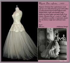 This vintage Dior was my dream wedding dress!