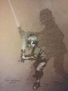 "[Children's Star Wars Imagination] ""use the force luke."" by Craig Davison Star Wars Love, Star Wars Art, Star Trek, Starwars, Humour Geek, Character Art, Character Design, Stormtrooper, Nerd"