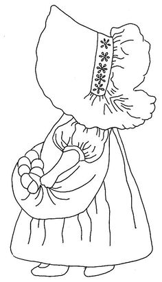Sunbonnet farm girl.... LOVE this one... ~Somebody got me started looking at…