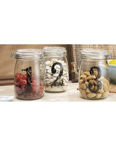 Spotted this Vintage Set of 3 Numbered Jars on Rue La La. Shop (quickly!).