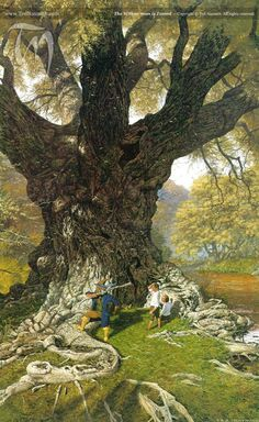 The Willow Man is Tamed by Ted Nasmith from The Lord of the Rings