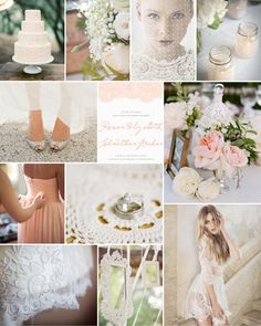 Dear Evie inspiration board 30 #wedding #inspiration #lace #peach #doily