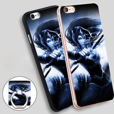 MIRANA DOTA 2 Phone Ring Holder Soft TPU Silicone Case Cover for iPhone 4 4S 5C 5 SE 5S 6 6S 7 Plus