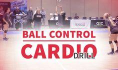 Demanding defensive ball control and cardio drill - Volleyball drills - Volleyball Drills For Beginners, Volleyball Skills, Volleyball Practice, Volleyball Training, Volleyball Workouts, Volleyball Quotes, Coaching Volleyball, Women Volleyball, Volleyball Players