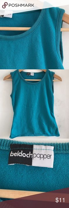Vintage Sweater Top ❤️ 1990s Sweater Top in lovely teal color! Would look casual cute with high-waisted pants or skirt! Make an offer!! 🔥 Vintage Tops