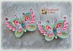 Одноклассники Satin Ribbon Flowers, Ribbon Art, Ribbon Crafts, Felt Flowers, Flowers In Hair, Fabric Flowers, Ribbon Jewelry, Diy Hair Bows, Flower Hair Clips