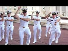 Gangnam Style - USNA Spirit Spot - Go Navy, okay in case u didnt know the academies all compete for the best viral video and they are funded- hence why the video remains up. West points is better i think..
