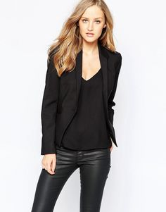 Image 1 ofFrench Connection Glass Fitted Blazer In Black