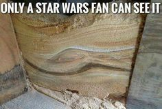 Only a Star Wars fan can see it. Jabba the Hut sand face.