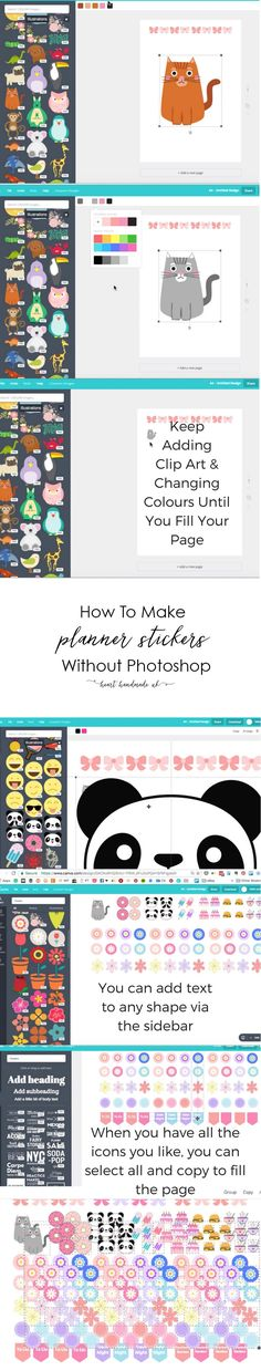 How To Make Planner Stickers without using photoshop and some free printable stickers for you!