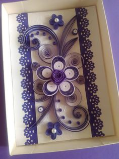 Quilling Card Greeting Card Quilled Birthday by valentiartshop
