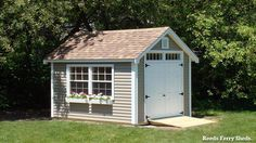 #8- Reeds Ferry 8x12 Victorian Cottage with vinyl siding