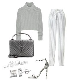 A fashion look from March 2017 featuring shirt top, high-waisted pants and high heels sandals. Browse and shop related looks. Daily Fashion, Love Fashion, Girl Fashion, Fashion Outfits, Guess Clothing, Girl Style, Alexander Wang, Polyvore Fashion, Yves Saint Laurent