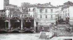 Le rovine di Ponte Nuovo viste da San Tomaso: è il 1882