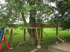 Make-A-Wish:  Ethan's Pirate Ship tree house under construction