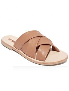 Sol Sana 'Nora Slide Sandal Tan/ Blonde' |Shop Splash www.shopsplash.com