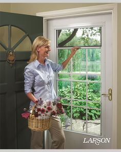 SeasonGuard 815 in x 40 in White Retractable Screen Door K