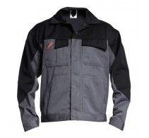 Billig arbejdsjakke fra FE Engel i grå og sort