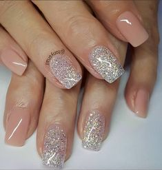 Neutral with silver gold glitter