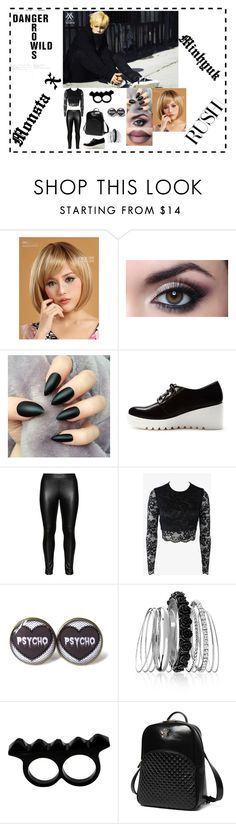 """RUSH ""MONSTA X"" Minhyuk"" by lovelyseoul784 on Polyvore featuring Forever 21, Studio, Bec & Bridge, Avenue, L'Artisan Créateur, Princess Carousel and plus size clothing"