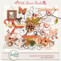 Leave me breathless digital scrapbooking kit from Chunlin Designs. This gorgeous fall inspired kit is perfect for documenting all your autumn photos