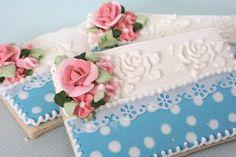 Encajes decorativos en papel comestible galletas decoradas