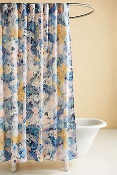 Decor shower curtain Assorted Shower Curtains by Helen Dealtry, Dealtry Claudine Curtain Floral Shower Curtains, Bathroom Shower Curtains, Modern Bathroom Mirrors, Bathroom Ideas, Elegant Curtains, Upstairs Bathrooms, Walk In Shower, Everyday Objects, How To Antique Wood