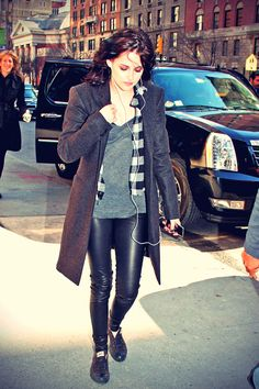 Kristen Stewart arriving ABC Studios In New York City